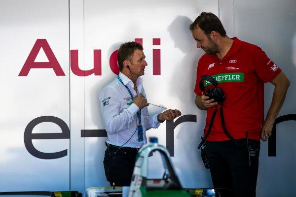 2017/2018 FIA Formula E Championship. Official Test - Valencia, Spain Monday 2 October 2017. Allan McNish - Team Priciple, Audi  Photo: Sam Bloxham/LAT/Formula E ref: Digital Image _J6I9001