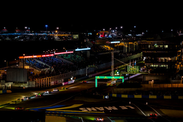 2016 Le Mans 24 Hours. Circuit de la Sarthe, Le Mans, France. Sunday 19 June 2016. A view of the Ford Chicane and start/finish straight during the race. World Copyright: Zak Mauger/LAT Photographic ref: Digital Image _79P8340