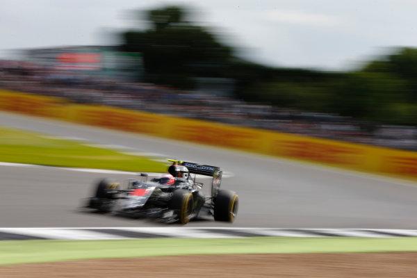 Silverstone, Northamptonshire, UK Friday 8 July 2016. Jenson Button, McLaren MP4-31 Honda. World Copyright: Hone/LAT Photographic ref: Digital Image _ONZ9970