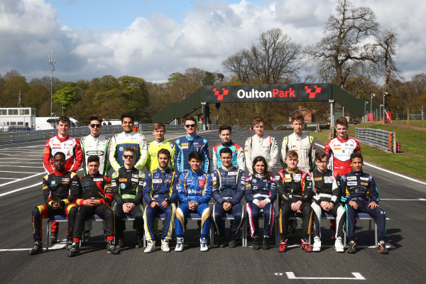 2017 BRDC British F3 Championship, Oulton Park, Cheshire. 15th - 187th April 2017. British F3 Class of 2017. World Copyright: JEP/LAT Images.