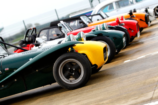 2017 Silverstone Classic Media Day. Silverstone, Northamptonshire. 23rd May 2017. Caterham. World Copyright: JEP/LAT Images.