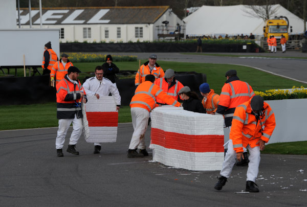 2017 75th Members Meeting Goodwood Estate, West Sussex,England 18th - 19th March 2017 Atmosphere Chicane World Copyright : Jeff Bloxham/LAT Images Ref : Digital Image