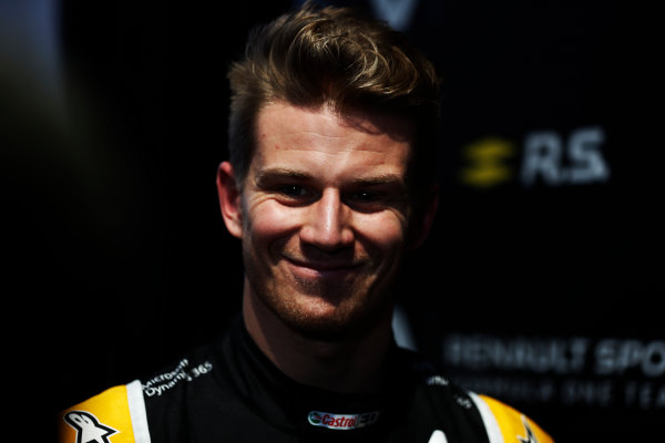 Renault  RS17  Formula 1 Launch. The Lindley Hall, London, UK. Tuesday 21 February 2017. Nico Hulkenberg, Renault Sport F1.  World Copyright: Glenn Dunbar/LAT Images Ref: _X4I9992
