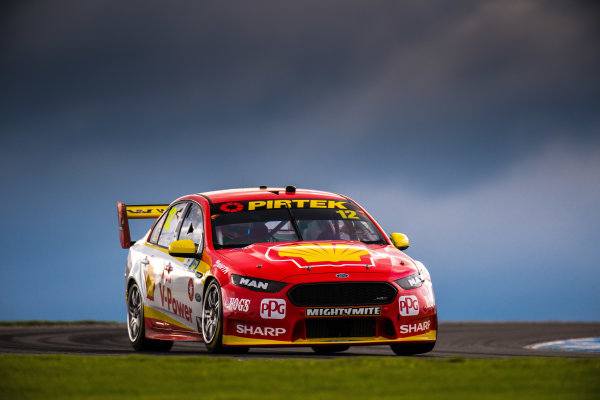 2017 Supercars Championship Round 3.  Phillip Island 500, Phillip Island, Victoria, Australia. Friday 21st April to Sunday 23rd April 2017. Fabian Coulthard drives the #12 Shell V-Power Racing Team Ford Falcon FGX. World Copyright: Daniel Kalisz/LAT Images Ref: Digital Image 210417_VASCR3_DKIMG_1696.JPG