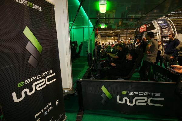 Autosport International Exhibition. National Exhibition Centre, Birmingham, UK. Sunday 14th January, 2018. The WRC eSports stand.World Copyright: Mike Hoyer/JEP/LAT Images Ref: AQ2Y9644