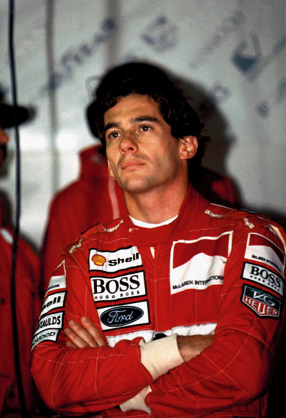 Ayrton Senna (McLaren-Ford).Ref-MotorSport catalogue page 35. Please note: this image is also available as a 30MB+ CMYK Tiff file on request.World - LAT Photographic