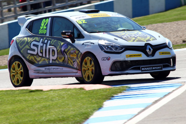 2015 Renault Clio Cup, Donington Park, 18th - 19th April 2015 Jordan Stilp (GBR) 20Ten Racing Renault Clio Cup  World copyright. Jakob Ebrey/LAT Photographic