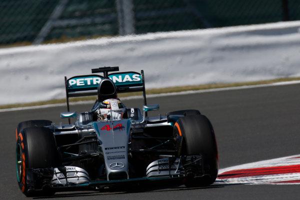Silverstone Circuit, Northamptonshire, England. Friday 3 July 2015. Lewis Hamilton, Mercedes F1 W06 Hybrid. World Copyright: Alastair Staley/LAT Photographic ref: Digital Image _79P9488