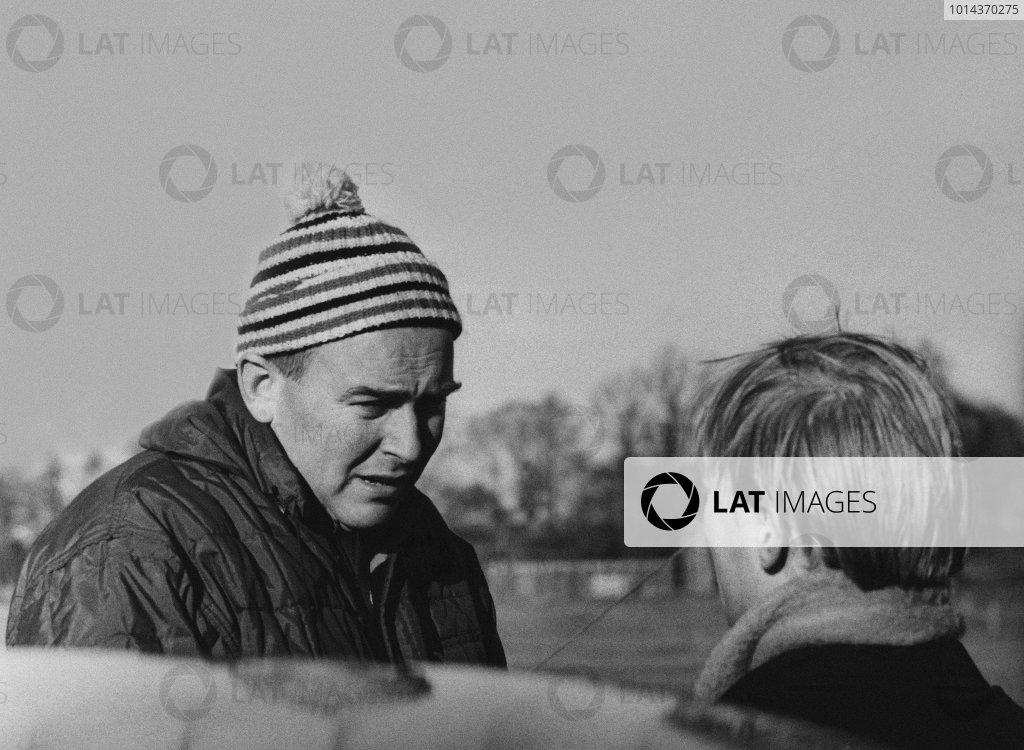 1962 RAC Rally of Great Britain. 12th - 17th November 1962. Erik Carlsson (Saab 96), portrait. World Copyright: LAT Photographic. Ref: L1344 - 1.