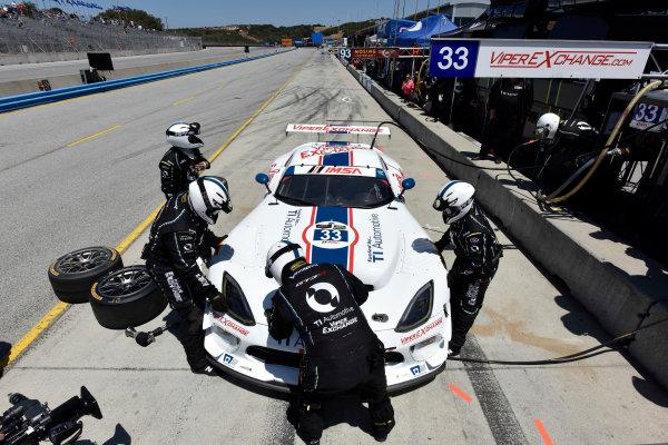 1-3 May, 2015, Monterey, California, USA 33, Viper V10, SRT GT3-R, GTD, Ben Keating, Jeroen Bleekemolen pit stop ©2015 Scott R LePage  LAT Photo USA