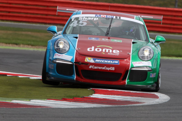 Porsche Supercup Round 4. Silverstone Circuit, Northamptonshire, England. Sunday 5th July 2015. Tom Sharp (GBR) IDL Racing Porsche Carrera Cup  World Copyright: Jakob Ebrey/LAT Photographic