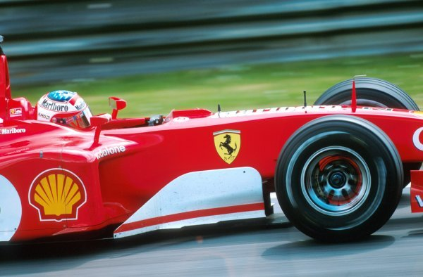 Rubens Barrichello (BRA) Ferrari F2002 looked set to take the win until he switched places with teammate Michael Schumacher at the end of the race. Formula One World Championship, Rd6, Austrian Grand Prix, A1-Ring, Austria. 12 May 2002. BEST IMAGE