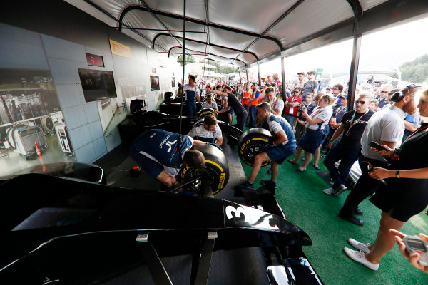 Red Bull Ring, Spielberg, Austria. Saturday 08 July 2017. The Pit Stop Challenge in the F1 fan village. World Copyright: Glenn Dunbar/LAT Images ref: Digital Image _X4I8054