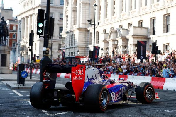 London, United Kingdom.  Wednesday 12 July 2017. The Toro Rosso STR12 Renault. World Copyright: Glenn Dunbar/LAT Images  ref: Digital Image _X4I1773