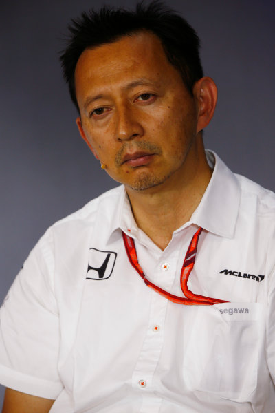 Red Bull Ring, Spielberg, Austria. Friday 07 July 2017. Yusuke Hasegawa, Senior Managing Officer, Honda, in the team principals Press Conference. World Copyright: Andy Hone/LAT Images ref: Digital Image _ONY9928