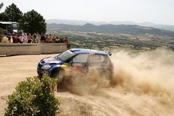 Round 6Rally d'Italia Sardinia 200921st - 24th  May 2009Patrik Sandell, Skoda, action.Worldwide Copyright: McKlein/LAT