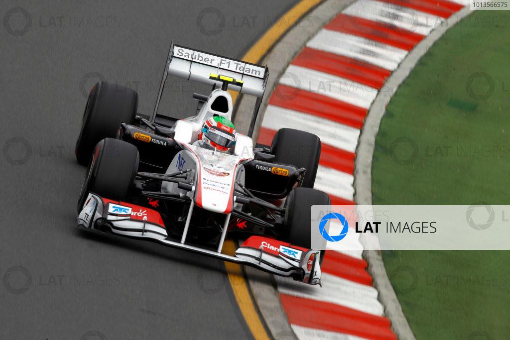 Albert Park, Melbourne, Australia25th March 2011.Sergio Perez, Sauber C30 Ferrari. Action. World Copyright: Andrew Ferraro/LAT Photographicref: Digital Image _Q0C7846