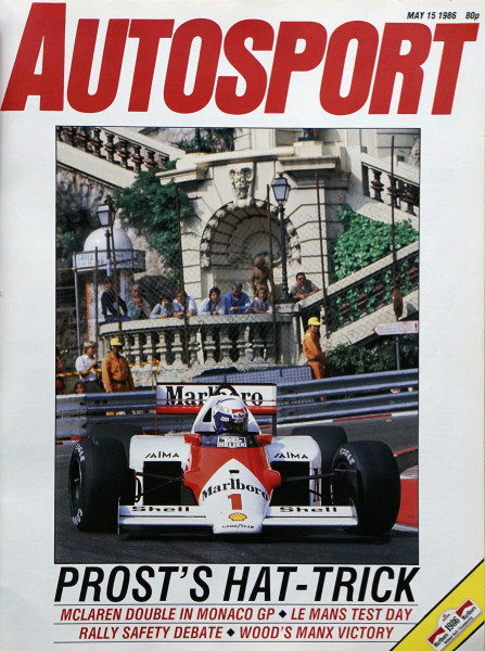 Cover of Autosport magazine, 15th May 1986