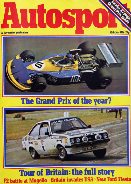 Cover of Autosport magazine, 15th July 1976