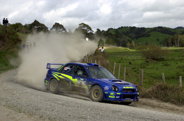 2001 World Rally Championship.Rally of New Zealand. September 20-23, 2001.Auckland, New Zealand.Petter Solberg on stage 9.Photo: Ralph Hardwick/LAT