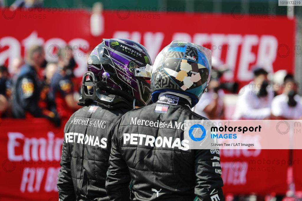 Lewis Hamilton, Mercedes-AMG Petronas F1, and Valtteri Bottas, Mercedes-AMG Petronas F1