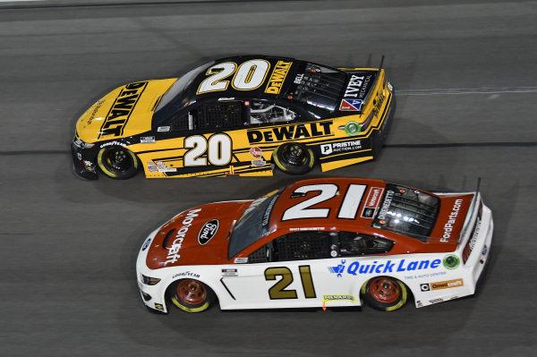 #21: Matt DiBenedetto, Wood Brothers Racing, Ford Mustang Motorcraft/Quick Lane #20: Christopher Bell, Joe Gibbs Racing, Toyota Camry DEWALT
