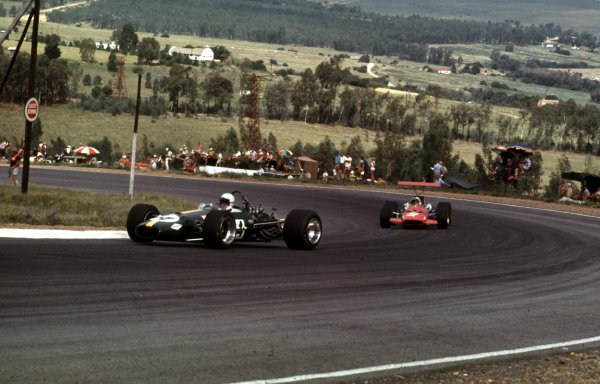 1969 South African Grand Prix.Kyalami, South Africa.27/2-1/3 1969.Jack Brabham (Brabham BT26 Ford).Ref-69 SA 53.World Copyright - LAT Photographic