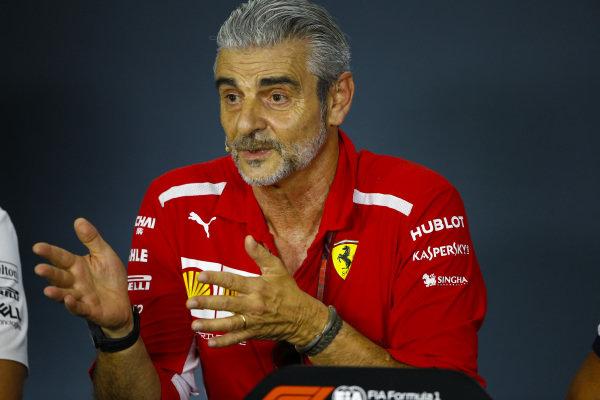 Maurizio Arrivabene, Team Principal, Ferrari, in the Team Principals' Press Conference.