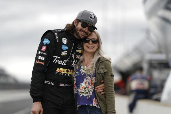 JR Hildebrand, Dreyer & Reinbold Racing Chevrolet with wife Kristin
