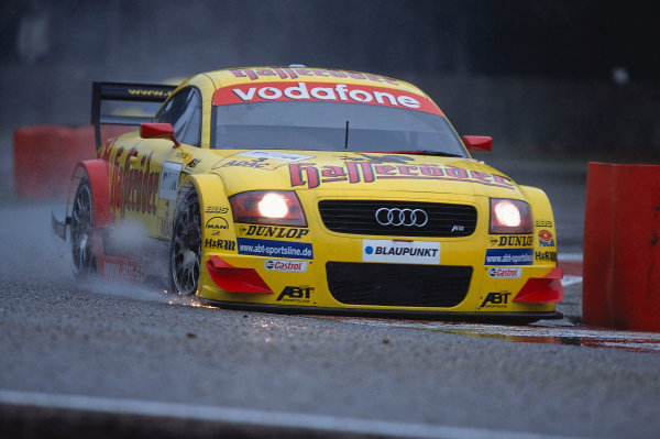 2002 DTM Championship, Zolder, Belgium. Rd 2, 4th-5th May 2002.Sparks and splashes fly from the car of Laurent Aiello.World Copyright: Lawrence/LAT Photographic