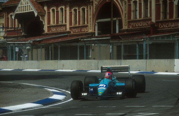 1992 Australian Grand Prix.Adelaide, Australia.6-8 November 1992.Jan Lammers (March CG911 Ilmor) 12th position. This was his last Grand Prix.Ref-92 AUS 17.World Copyright - LAT Photographic