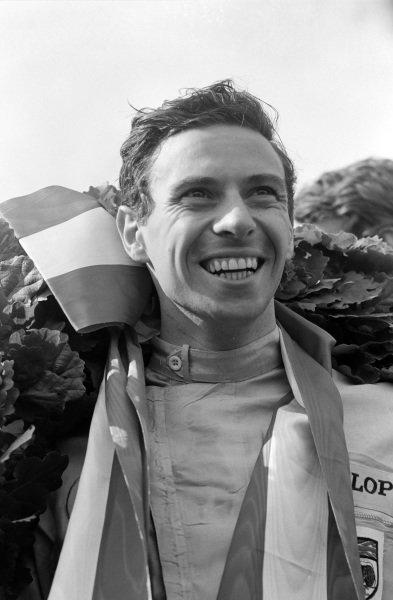 Race winner Jim Clark.