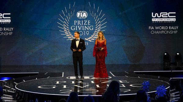 Presenters Tom Kristensen and Nicki Shields on stage