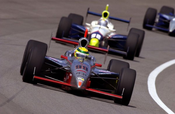 86th. Indianapolis 500, Indianapolis Motor Speedway, Speedway, Indiana, USA 26 May,2002 Mark Dismore leads Billy Boat.