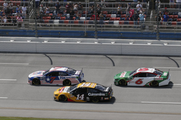 #14: Chase Briscoe, Stewart-Haas Racing, Ford Mustang Rush Truck Centers/Cummins, #6: Ryan Newman, Roush Fenway Racing, Ford Mustang Castrol, #7: Corey LaJoie, Spire Motorsports, Chevrolet Camaro