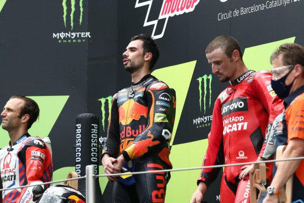 Podium: race winner Miguel Oliveira, Red Bull KTM Factory Racing, second place Johann Zarco, Pramac Racing, third place Jack Miller, Ducati Team .