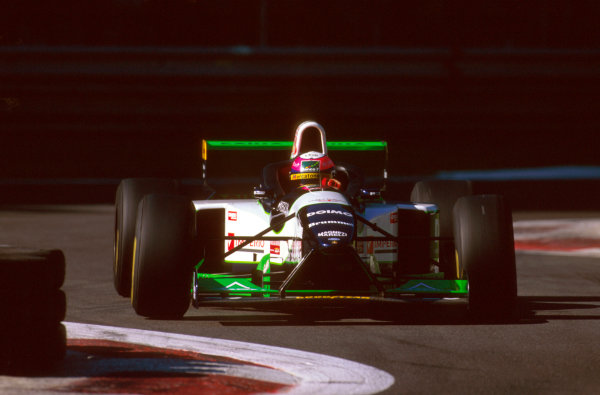 Monza, Italy.6-8 September 1996.Pedro Lamy (Minardi M195B Ford) exited the race after engine failure.Ref-96 ITA 31.World Copyright - LAT Photographic