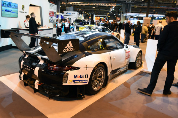 Porsche 911 GT3R Carrera Cup at Autosport International Show, NEC, Birmingham, England, 12-15 January 2017.