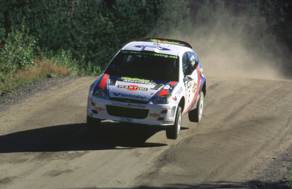 WRC Neste Rally of Finland 200017th - 20th August 2000. Rd 9/13.The Ford Focus of Colin McRae took 2nd position.Photo:McKlein/LATRef 35mm A08