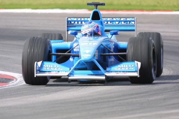 2001 Malaysian Grand Prix.Sepang, Kuala Lumpur, Malaysia. 16-18 March 2001.Jenson Button (Benetton B201 Renault) 2nd position.World Copyright - LAT Photographicref: 8 9MB DIGITAL IMAGE