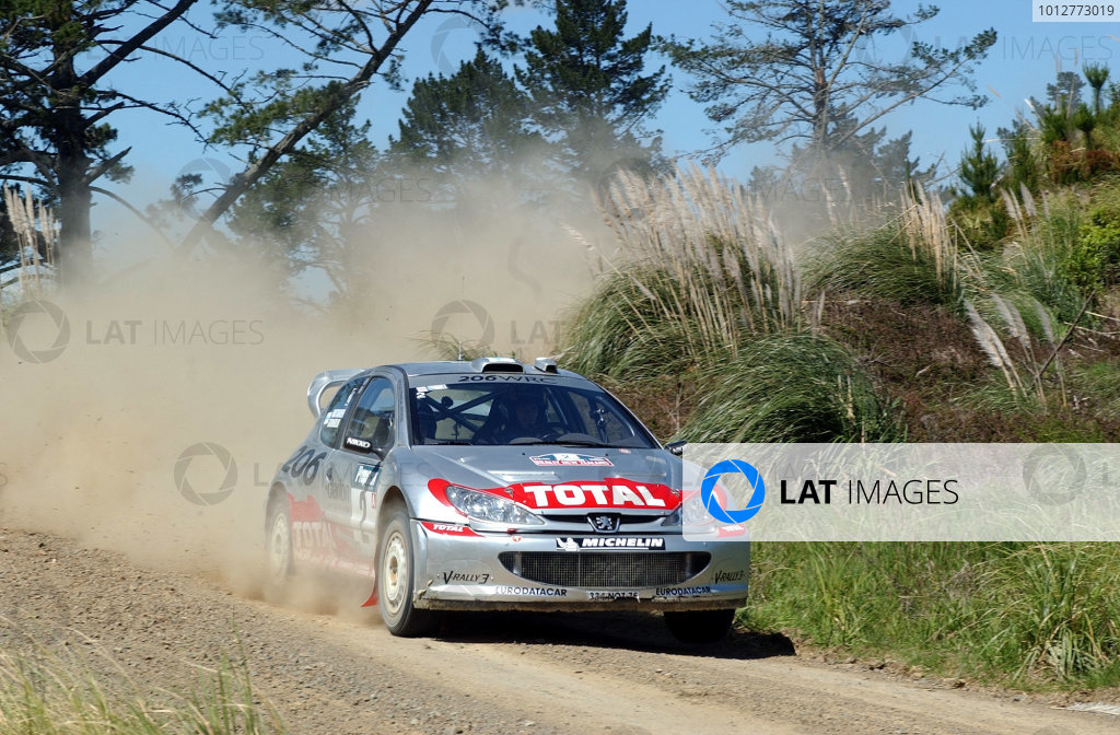 2002 World Rally Championship.Propecia Rally of New Zealand, Auckland, October 3rd-6th.Marcus Gronholm on the penultimate stage.Photo: Ralph Hardwick/LAT