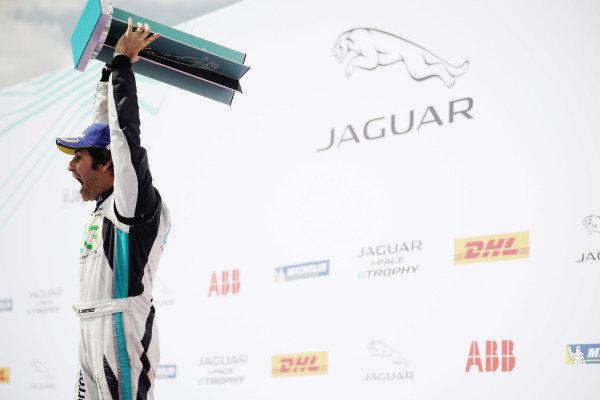 Race winner Sérgio Jimenez (BRA), Jaguar Brazil Racing celebrates on the podium