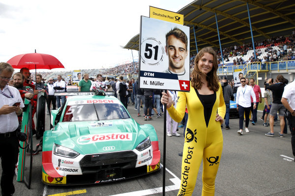 Grid girl of Nico Müller, Audi Sport Team Abt Sportsline.