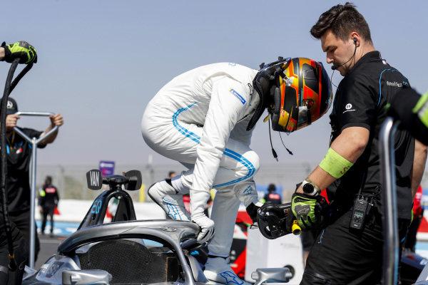 Stoffel Vandoorne (BEL), Mercedes Benz EQ, EQ Silver Arrow 01 on the grid with team members.