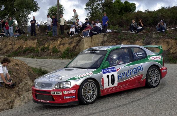 2001 World Rally Championship.Rallye de France, Ajaccio, Corsica, October 19-21.Alister McRae on stage 13.Photo: Ralph Hardwick/LAT