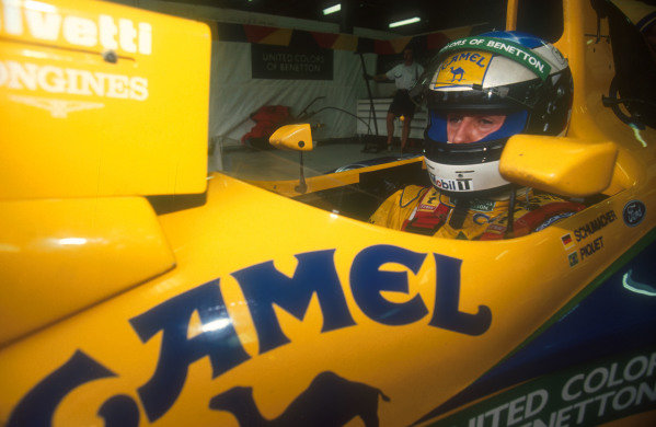 1991 Australian Grand Prix.Adelaide, Australia.1-3 November 1991.Michael Schumacher (Benetton Ford).Ref-91 AUS 21.World Copyright - LAT Photographic