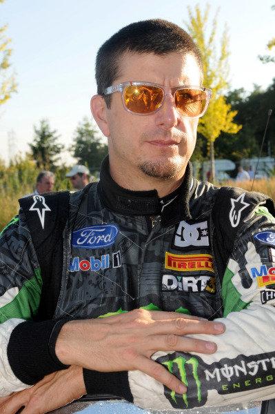Ken Block (USA), Ford. FIA World Rally Championship, Rd11, Rallye de France, Strasbourg, Alsace, France. Day One, Friday 30 September 2011.