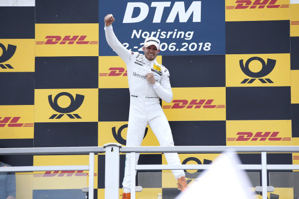 Podium: Race winner Edoardo Mortara, Mercedes-AMG Team HWA.