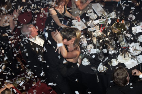 2005 Autosport AwardsGrosvenor House, London. 4th December.McLaren Autosport BRDC Young Driver Award winner Oliver Jarvis celebrates.World Copyright: Malcolm Griffiths/LAT Photographicref: Digital Image Only