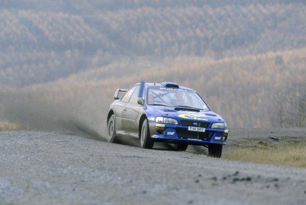 1999 World Rally Championship.Network Q Rally GB, Great Britain. 21-23 November 1999.Richard Burns/Robert Reid (Subaru Impreza WRC), 1st position.World Copyright: LAT PhotographicRef: 35mm transparency 99RALLY14